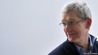 Apple CEO Tim Cook as he speaks to members of the media at an Apple press event in San Francisco, California 13 March 2015