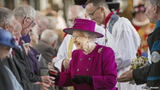 The Queen held last year's Maundy Thursday service at Blackburn Cathedral