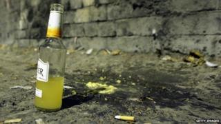 A bottle left in the street in Bath
