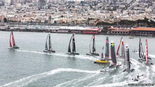 Americas Cup racing in San Francisco