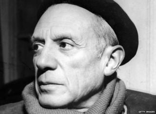 Pablo Picasso pictured in 1955