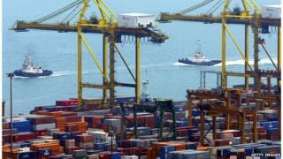 Cranes in Singapore