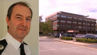 Stephen Jupp and Suffolk Police headquarters