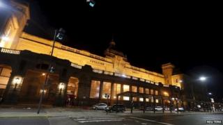 A train station is seen during a one-day nationwide strike in Buenos Aires on 31 March, 2015.