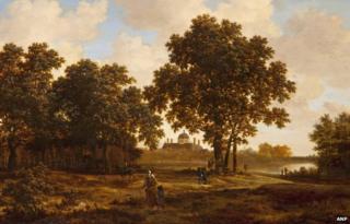 The Hague Forest with a View of Huis ten Bosch Palace by Joris van der Haagen