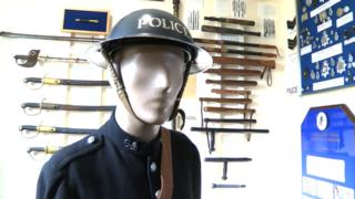 Items at police museum