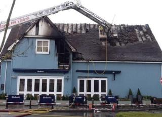 Aftermath of Bicester Village fire