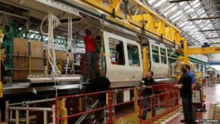 Bombardier workers in Derby