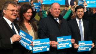 Welsh Conservatives campainging in St Asaph