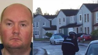 Steven Mathieson and the crime scene in Springfield Drive