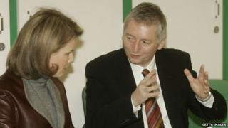 Steve Stevaert with Princess Mathilde in 2007
