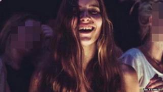 Sex worker Tilly Lawless smiling at camera