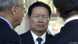 Zhou Yongkang is seen in Biriatou on 20 July 2006, during a private visit in the French Basque region