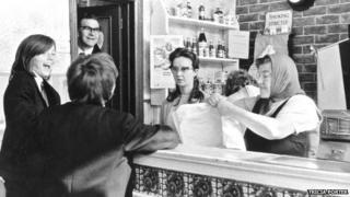 Long's Chippy in Falkner Street 1972