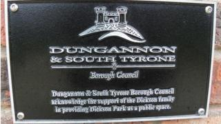 Dungannon council plaque