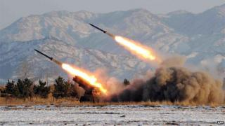North Korea test fires missiles, file photo from 2009