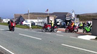 Ponderosa cafe and bikers, Denbighshire