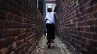 running down an alley