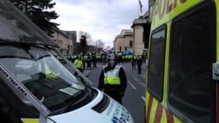 Police at EDL march