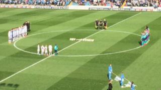 Leeds United and Blackburn at Elland Road