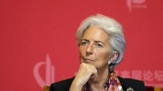 File photo: Christine Lagarde in China