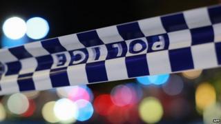 File image of police tape in Australia