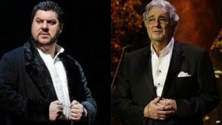 Luca Salsi and Placido Domingo