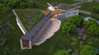 Artist's impression of the visitor centre