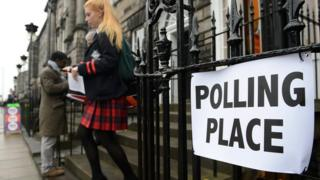Young voter in Edinburgh