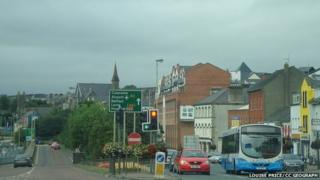 junction of the old bridge, Duke Street, Spencer Road and the New Buildings Road