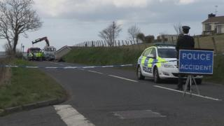Scene of crash in Ballycastle, County Antrim