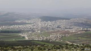 A general view of the Kurdish city of Afrin, in Aleppo's countryside on 18 March 2015