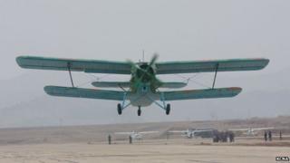 A North Korean Antonov An-2 biplane
