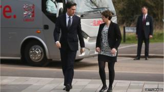 Ed Miliband on the campaign trail in Bristol this morning