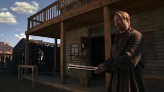 Eva Green and Mads Mikkelsen in The Salvation