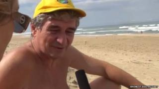 Serge Pavlovic, chairman of the South African National Naturist Association