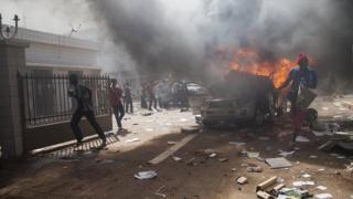 Unrest in Ouagadougou (30 October 2014)