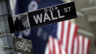 Wall St street sign