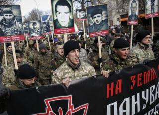 Right Sector march in Kiev, 25 Feb 15