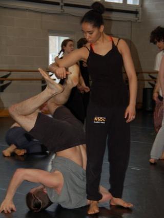 Dancers on back