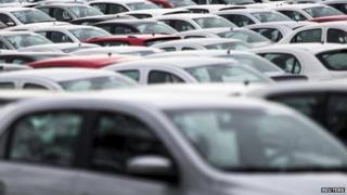 A fleet of cars
