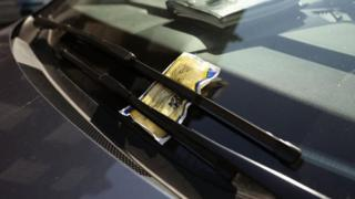 Parking ticket. Pic: PA