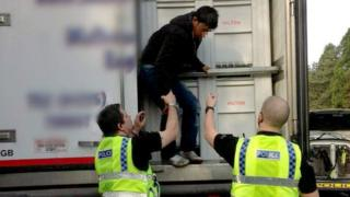 Afghan stowaways found on board a lorry in Gloucester