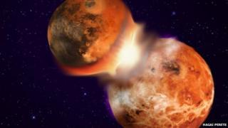 moon impact illustration