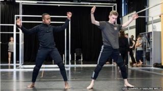 Dancers in the frame set