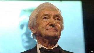 A file picture dated 5 February 2007 shows Australian cricket legend Richie Benaud giving a speech at the 2007 Allan Border Medal ceremony in Melbourne, Australia