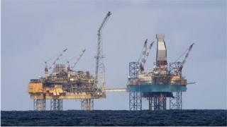 north sea oil rig platforms