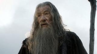 Ian McKellen as Gandalf in the Hobbit