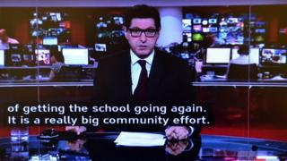 Subtitles on BBC News