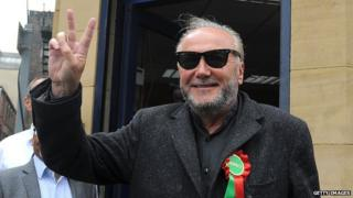 George Galloway is standing for the Respect party in Bradford West
